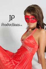 Anusia In The Studio (Jigsaw-Photography-UK) Tags: red portrait orange girl studio dress mask jpproductionsuk