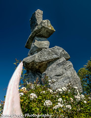 inukshuk water feature- English Bay Vancouver RPD-Edit.jpg (Ryan Dyck) Tags: park longexposure pink blue trees red roses sky orange white canada abstract black green art tourism water rose yellow vancouver photoshop wow garden spectacular photography amazing funny exposure artist photographer bc purple artistic zoom britishcolumbia creative humour transit rails multiple stanleypark skytrain hdr feature lightroom vantagepoint 25years 2014 leadinglines ortoneffect ryandyck ryandyckphotography