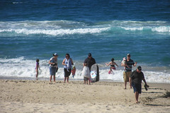 Too Cold for Swimming (Jocey K) Tags: sea people water sand surf australia queensland goldcoast broadbeach