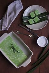 Pandan Coconut Jelly (Jet & Indigo) Tags: dessert coconut jelly pandan foodphotography foodstyling