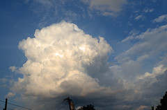 Neighborhood Nimbus (Kenneth John Taylor) Tags: blue sky weather clouds nikon nimbus bigclouds puffyclouds whiteclouds d7000