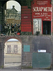 scrap metal then and now (Dave S Campbell) Tags: city scotland glasgow centre lane present past thenandnow paddysmarket pastandpresent shipbank