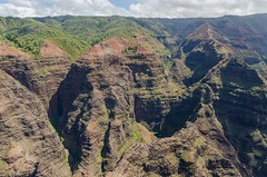 From the air (Lena and Igor) Tags: landscape travel tourism us usa island mountains kauai hawaii scenic shadows sunlit aerial nature dslr nikon d7000 sigma 1770