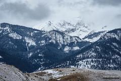 High Voltage (kevin-palmer) Tags: montana gardiner electricpeak gallatinrange yellowstone yellowstonenationalpark nationalpark february winter snow cold cloudy overcast nikond750 nikon180mmf28 telephoto snowing wyoming