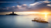 Sunset on the Island and Cap Dramont ( France ) (Yannick Lefevre) Tags: france var cotedazur frenchriviera capdramont iledor island sunset landscape seascape rockscape sky sea clouds sun light lightroomcc photoshopcc panorama blue golden tower nikon d810 nikkor1635mmf4 raw nef tripod gitzo ndfilter nisi fstopper galenrowellsinghray darylbensonsinghray singhray 09gndreverse 09gndsoft longexposure paysage poselongue