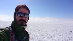 donmuş çıldır gölü'nde ben