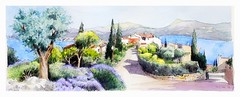 Sainte Croix du Verdon - Provence - France (guymoll) Tags: saintecroix provence france aquarelle watercolour watercolor lac landscape paysage panoramique panoramic verdon saintecroixduverdon