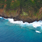 Nā Pali Coast, Kauai from the sky