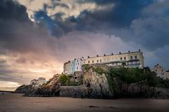 Imminent (garethleethomas) Tags: sunset clouds weather rain buildings architecture beach coast landscape birds uk greatbritain wales pembrokeshire