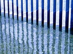 reflection lines - ( Explore! ) (Demetrios Lyras) Tags: blue white abstract reflection art lines architecture angle fav50 south financialdistrict explore soma southofmarket sfist waterflow fav10 fav5 fav25 sanfranciscocausa fav75 anglesanglesangles
