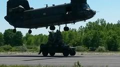 20140607-Z-Clark-011 (New York National Guard) Tags: 3rdbattalion det1 2ndbattalion senecaarmydepot nysoldiersofdeltacompany 108thinfantryfromithaca hadtheuniqueopportunitytotrainwithtwoch47chinookhelicoptersandtheircrewsfrombravocompany 126thaviationoutofrochesterthetrainingtookplaceatsenecaarmydepotlocatedintheheartofthefingerlakesbetweensenecaandcayugalakesnewlytrainedpathfinderandairassaultsoldierstrainedthecompanyonhowtoslingloadthecodup theflightcrewsverifiedtheloadsandgaverehearsalsfortheloadingandunloadingtheaircrafteachofthetrainedhookupcrewsrotatedthroughhookingtheslingloadsupandthechinooksflewashortpatternwiththe5 000lbsand12 000lbshumveeseachofthefourassaultplatoonsincodwereflownaroundcanandaiguaandkeukalakeswhileaboardthehelicoptercaptclarkwasabletopromotespcjoshuameriwethertosergeant