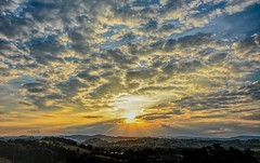 Clouds & Rays (Dave McGlinchey) Tags: sunset sky weather clouds solar nikon skies cloudy atmosphere rays waterdroplets sunbeam icecrystals cloudscapes crepuscularrays optic d7100 sigma1020mmf35exdchsm cloudsstormssunsetssunrises