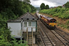 Selby bound Stone (SlightlyReliable70) Tags: park uk stone train hope dale box distri