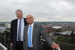 "Stephen Mosley MP and Culture Secretary Sajid Javid MP on tour of Cathedral at Height • <a style=""font-size:0.8em;"" href=""http://www.flickr.com/photos/51035458@N07/14388839044/"" target=""_blank"">View on Flickr</a>"