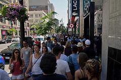 Montreal - rue Ste-Catherine (caribb) Tags: city summer people urban canada shopping downtown montral quebec montreal sidewalk qubec pedestrians centrum crowds metropolitan sophisticated ville shoppers centreville 2014 ruestecatherine bustling