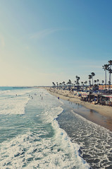 Dream of Californication (AngelK32) Tags: ocean california sea usa sunshine america landscape sand surf waves wideangle newportbeach palmtrees orangecounty tokina1116mmf28