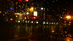 Misty Window (Itsnotme!) Tags: city nightphotography light window rain misty night germany dark lights droplets hessen distorted drop pane hesse