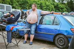 Fat Salesman (Tomas.Kral) Tags: people man canon 50mm fat fleamarket salesman 5dmarkii