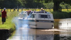 Mrs Reginald Molehusband 1 (Wildlife Terry (Catching Up)) Tags: green canal cabin motorway cheshire parking trent kingfisher m6 cruiser mersey wheelock sandbach hassall molehusband