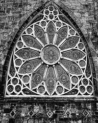 Church Window (Linda Kosidlo) Tags: blackandwhite church window gothic ornate