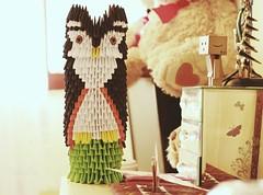 Owl 3D Origami (MPhotography.) Tags: paper paperart 50mm origami pastel owl 3dorigami canon600d