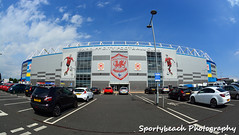 Cardiff City Stadium (jonnywalker) Tags: city sport southwales wales club football stadium cardiff fisheye