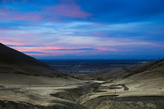 New Lands (UDY) Tags: california new city travel pink blue light summer sky storm mountains youth canon landscape dawn view purple empty exploring young rover land vista lands landrover discovery range epic discover traveler t3i