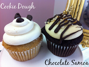 Cookie Dough & Samoa Cupcakes