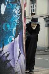 V For Vendetta Cosplay (the_gonz) Tags: sexy fetish costume cool geek mask cosplay sheffield guyfawkes v superhero vforvendetta dccomics anonymous comiccon fancydress alanmoore dystopian vforvendettacosplay herocostume anonymousmask hugoweavingv davidlloydvforvendetta superherofancydress vendettasheffield