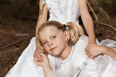Tierra (Shailine Doney Photography) Tags: beautiful smile happy washington twins model woods spokane child forrest blueeyes blond whitedress expodisc spokanecounty alienskin alienskinexposure modelsintraining topazlabs westcottapollo littlemodels photographersdaughter topazclean3 einstein640 topazlabsdetail3 alienskinexposure6 shailinedoneyphotography shailinedoneyphoto