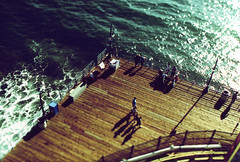 Porst SP Santa Monica Pier Provia Tilt 2 (▓▓▒▒░░) Tags: california park camera summer west classic film wheel 35mm vintage coast amusement pier losangeles pacific santamonica shift ferris retro roller tilt coaster