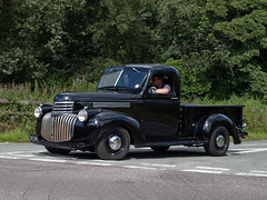 957 XUD  1946  Chevrolet Pick Up (wheelsnwings2007/Mike) Tags: park chevrolet up stars cheshire stripes pick 1946 tatton knutsford 2014 957 xud