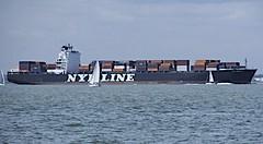 SOLENT UNDERWAY  7 (conespider) Tags: uk sea england ships solent hovercraft 2014