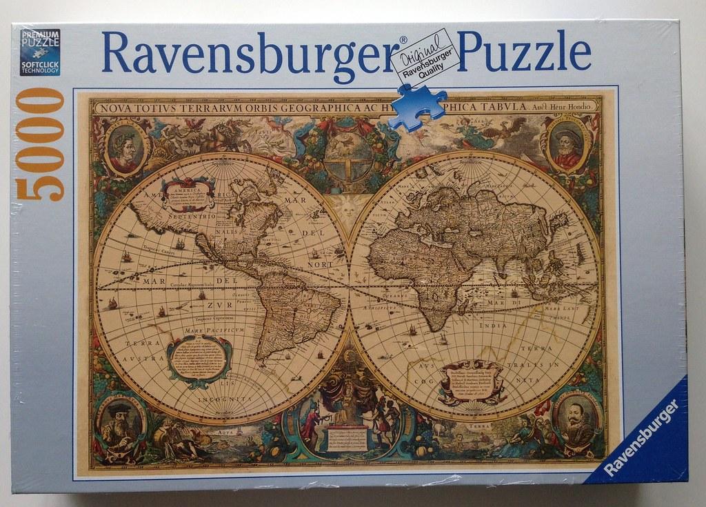 The worlds newest photos of map and ravensburger flickr hive mind henricus hendrick hondius antique world map 1630 danijel legin tags map 5000 puzzle sciox Choice Image
