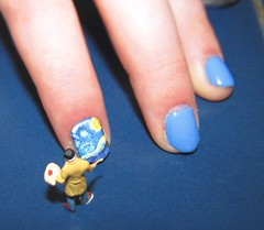Nail Art (amanda_shirlow) Tags: macro art miniature paint small nail mini humour nails van littlepeople gogh puns tinypeople starrynight hoscale preiser