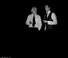 The Ring. (Neil. Moralee) Tags: wedding bw white man black men beer monochrome shirt night dark mono groom nikon couple brother candid uncle pair fear young drinking twin tie neil husband son thoughts wise older second service cuff wisdom links waistcoat regret weddingreception loyalty commitment trepidation advise backgroung farther aprehension d7100 moralee