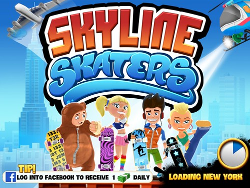 Skyline Skaters Loading: screenshots, UI