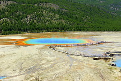 Grand Prismatic, from East (offtrailjeff) Tags: spring colorful grand basin yellowstone geyser midway prismatic