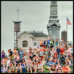 Year After Year, Up on a Hill (ioensis) Tags: county old tower church monument infantry cross bell flag hill crowd ceremony july iowa jail opening courthouse nordic lutheran spectators fest decorah 2014 jdl winneshiek ioensis 01532007067tmf1byear