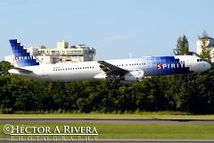 Spirit Airlines Airbus A321-231  San Juan - Luis Munoz Marin International (Isla Verde) (SJU / TJSJ) Puerto Rico N586NK (Hector Rivera - Puerto Rico Spotter) Tags: verde puerto san juan spirit marin rico international airbus luis airlines isla sju munoz a321231 tjsj n586nk