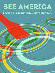 Lewis and Clark Circles (parchedpaper) Tags: illustration digital poster circles paddle lewis clark seeamerica lewisclark