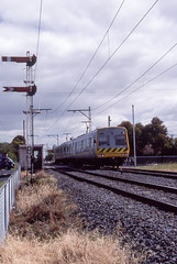 Gaffney Steet Coburg (Dermis50) Tags: comeng themet coburg gaffneystreet signals railways victoria victorianrailways electricsuburban emu home signal distant reddistantsignal