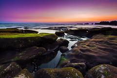 mengening Sunset (Ricky Nugraha) Tags: sunset bali rocks slowshutter canon5d canggu 5dmk2 5dmark2 pantaimengening mengeningbeach