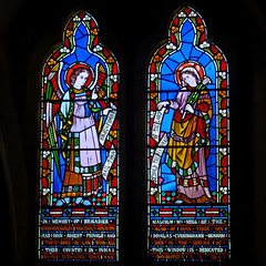 Alvechurch, Worcestershire, St Laurence. (Tudor Barlow) Tags: autumn england churches stainedglass worcestershire listedbuilding preedy parishchurch alvechurch frederickpreedy gradeiilistedbuilding lumixfz200 alvechurchstlaurence