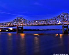 I-74 Bridge (David Davila Photography) Tags: night illinois il geotag peoria 2014 illinoisriver i74bridge nikon50mmf18d nikond800 holuxm241 flwfilter