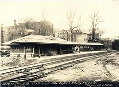 Milton Station before being razed (City of Boston Archives) Tags: boston publictransit milton historicboston historicmilton dorchesterrapidtransit transitdepartment