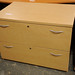 Low beech 2 drawer file unit