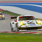Closeup of the No_ 912 Porsche North America Porsche 911 RSR