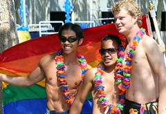 Dancers (Photographing Travis) Tags: glbt lgbt parade party pride sanjose southbay people person 2006