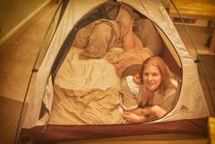 Camping & Smores in our Edinburgh Flat - Nov. '07 (Jonmikel & Kat-YSNP) Tags: select edinburgh flat tent camping scotland kat